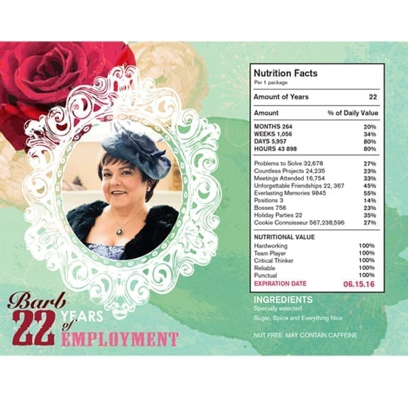 Retirement Party Plastic Tub Labels 1