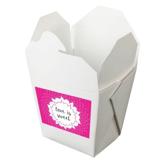Take Out Containers with Label